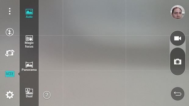 LG G3 Review unit camera settings