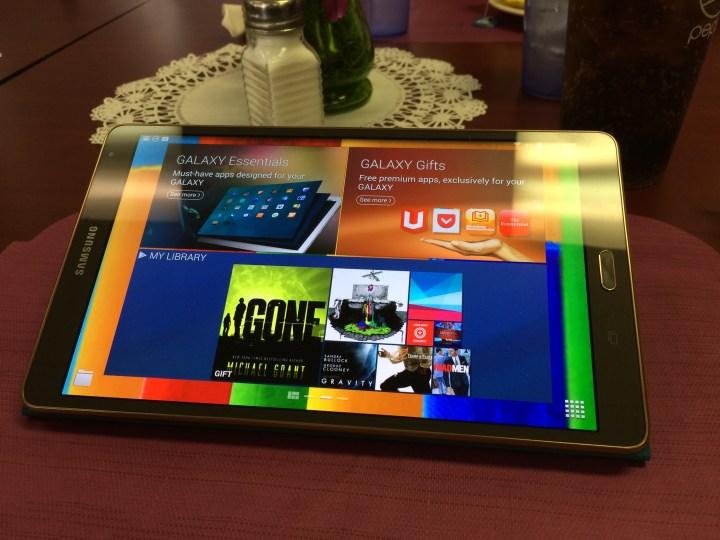 samsung galaxy tab s glossy screen