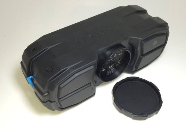 braven brv-x rugged speakers includes a cap to protect connectors