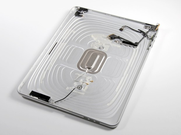 The iPad used the logo for WiFi signals, and we could see a similar use on the iPhone 6. Image via IFixit.