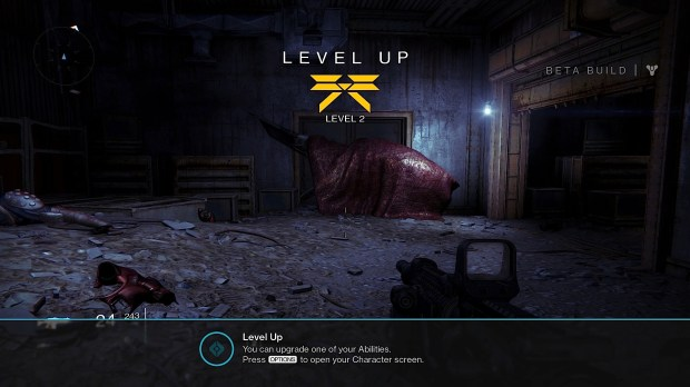 Level up to unlock the Destiny beta multiplayer.