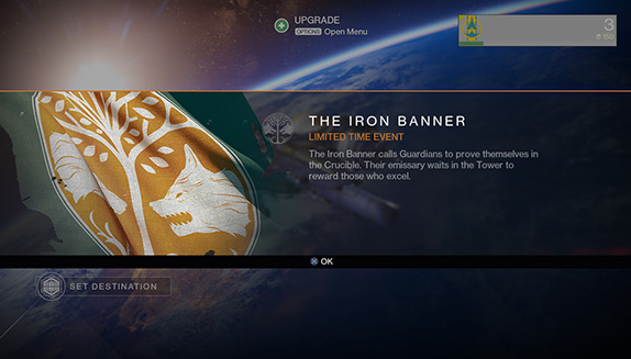Play the Destiny beta Iron Banner matches right now.