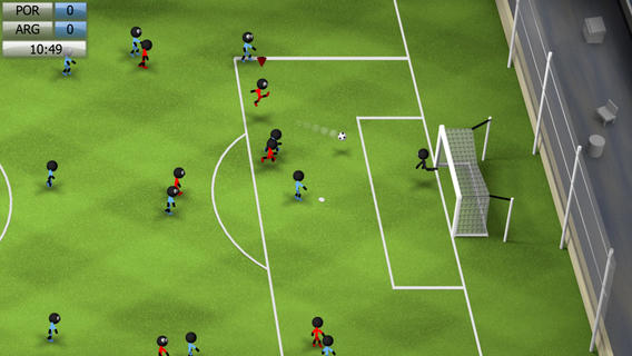 Free iPhone Games - Stickman soccer 2014
