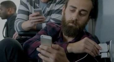 Galaxy S5 Ad Wall Huggers - iPhone battery life - 5