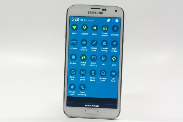 Samsung includes many small changes to basic Android 4.4.2 design with the Galaxy S5.