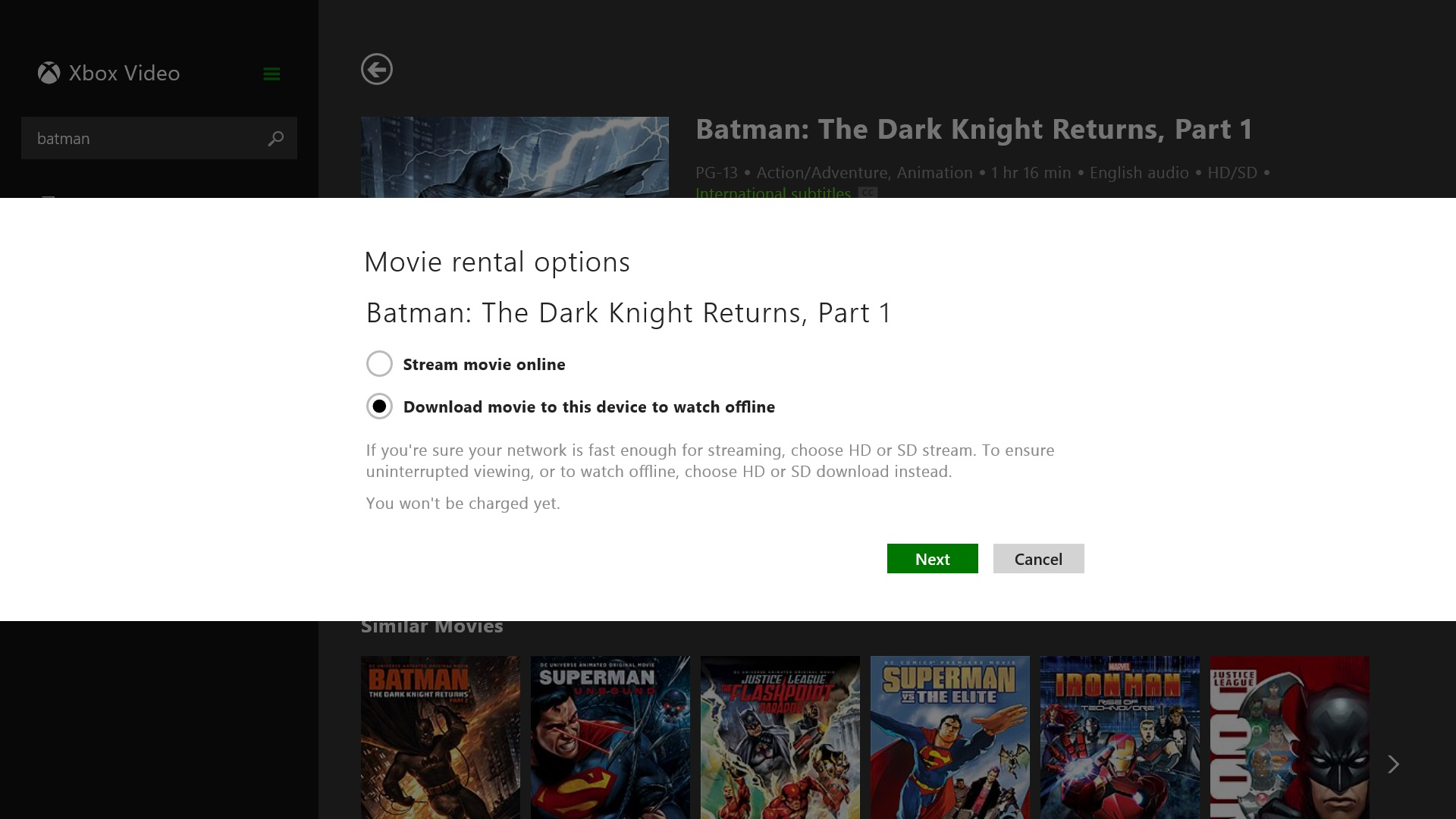 how to rent movies on windows 8 1
