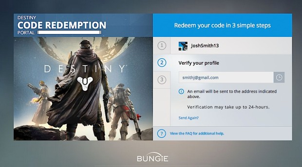 Verify your email to get ready for the Xbox Destiny beta.