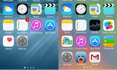 iOS 8 vs iOS 7 design looks very much the same.
