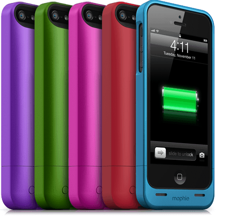 The Mophie Juice Pack case for the iPhone 5s