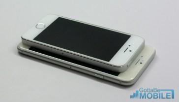 iPhone 6 vs iPhone 5s size comparison.