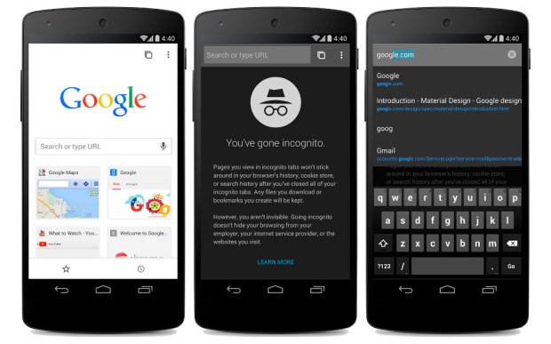 Google Chrome Beta Update Adds Android L Material Design