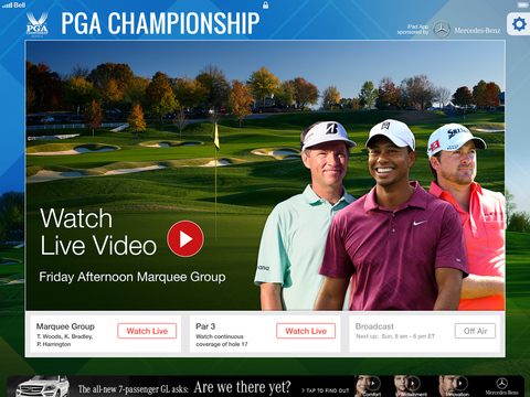 Watch the 2014 PGA Championship livestream on iPhone, iPad or Android.