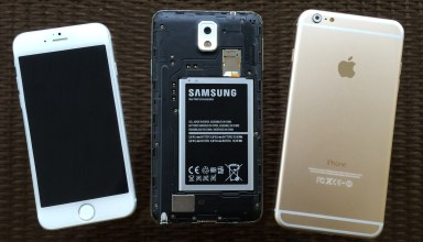 A huge iPhone 6 battery is almost as big as the Galaxy Note 3 battery.