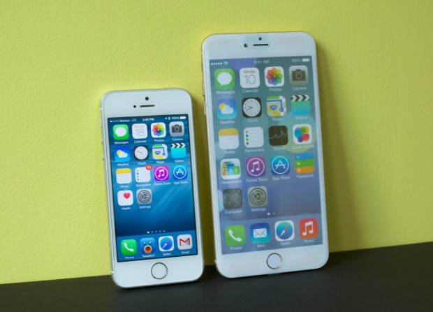 The 5.5-inch iPhone 6 vs iPhone 5s screen size comparison shows a major upgrade.