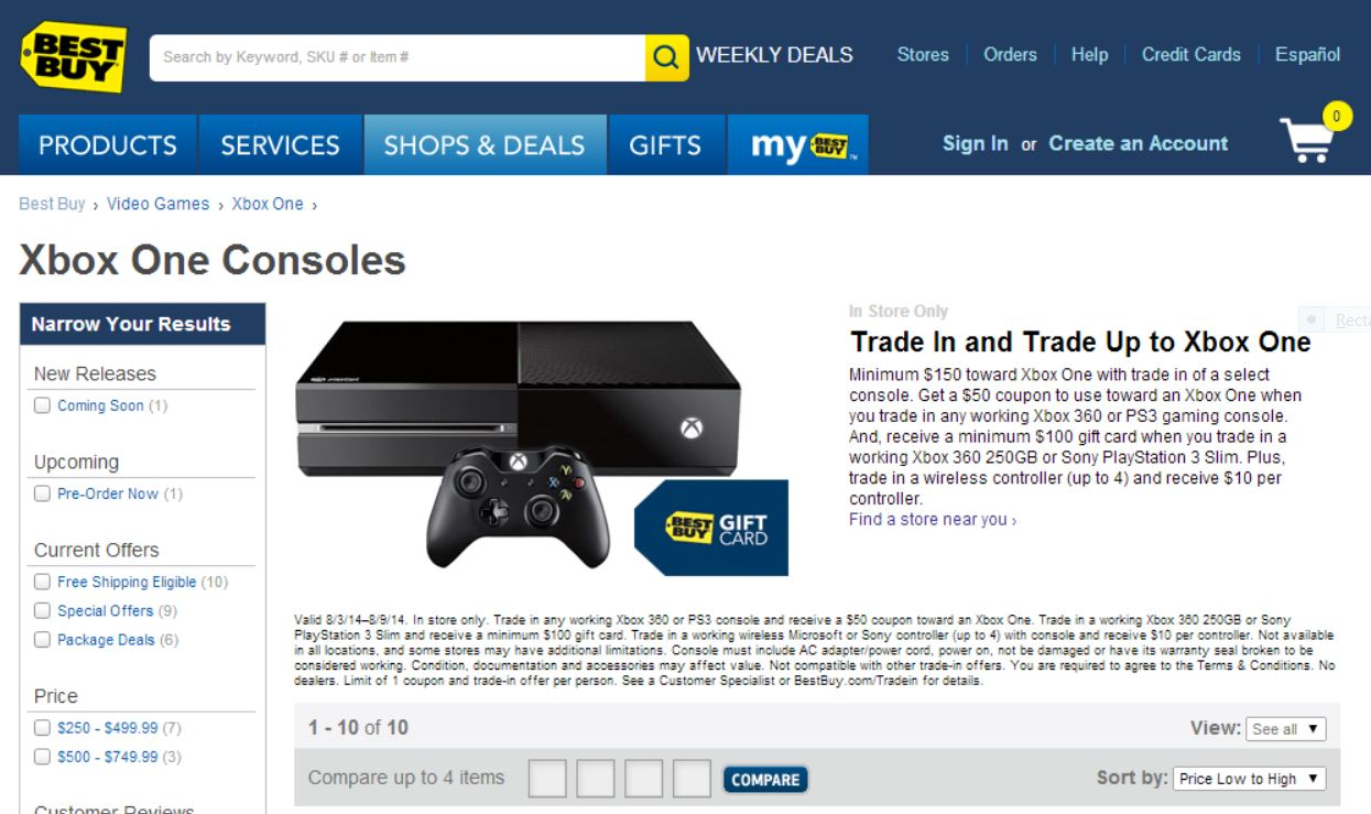 best buy reveals blockbuster xbox one trade in deal. Black Bedroom Furniture Sets. Home Design Ideas
