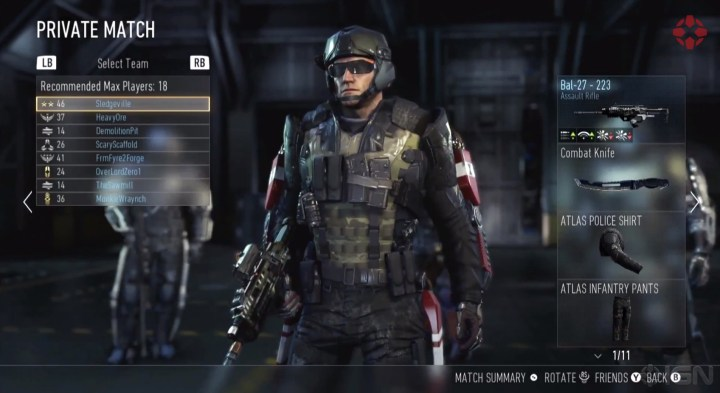 You'll also earn gear to upgrade the looks of your Call of Duty: Advanced Warfare character.