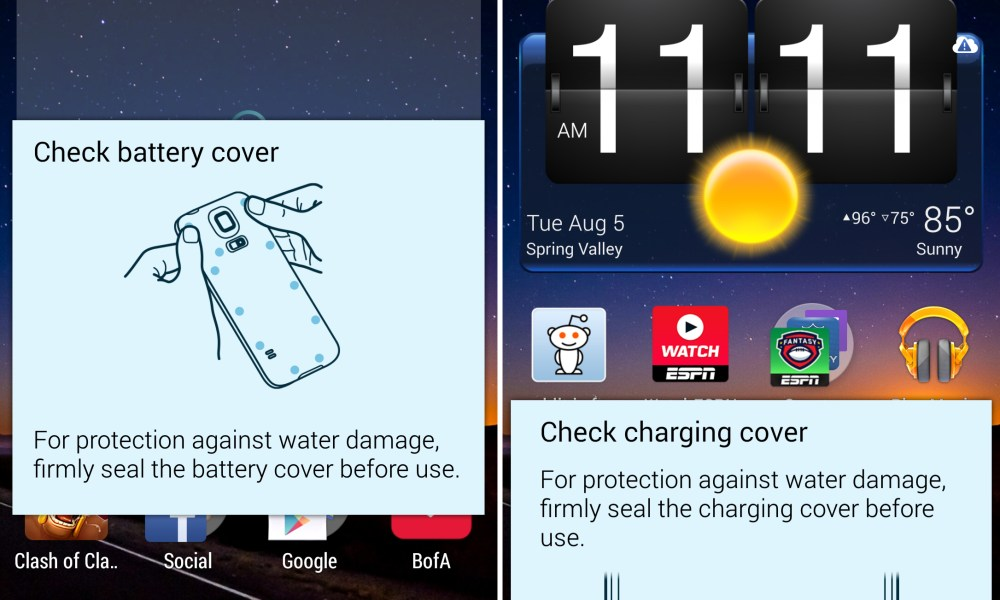 How to Disable Water Damage Popups on the Galaxy S5