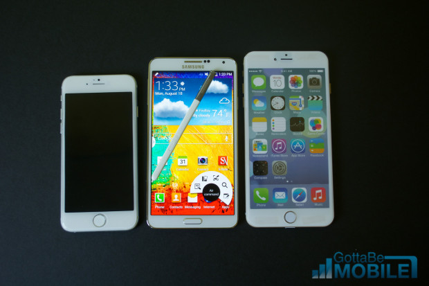 A 4.7-inch iPhone 6 and a 5.5-inch iPhone 6 offer more competition for Samsung.