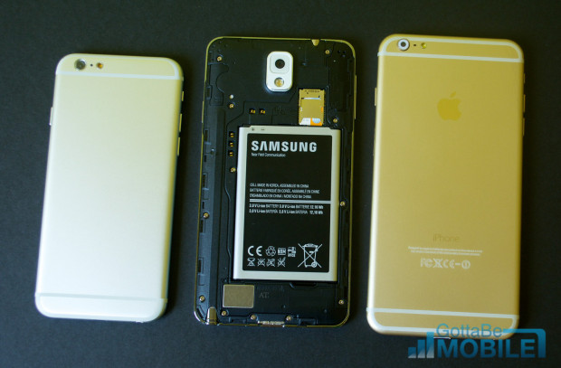 Peel the back off the Galaxy Note 3 to swap batteries or add storage.