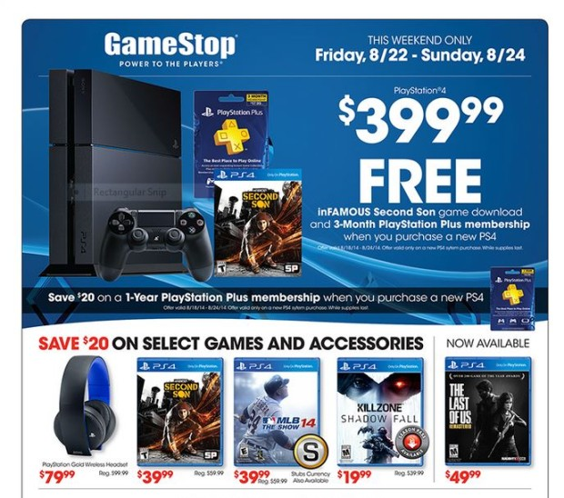 GameStop Sony Sale