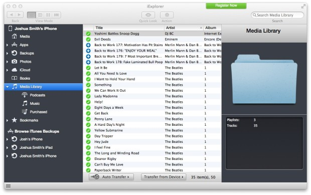 Pick the song you want to transfer from iPhone to Mac.