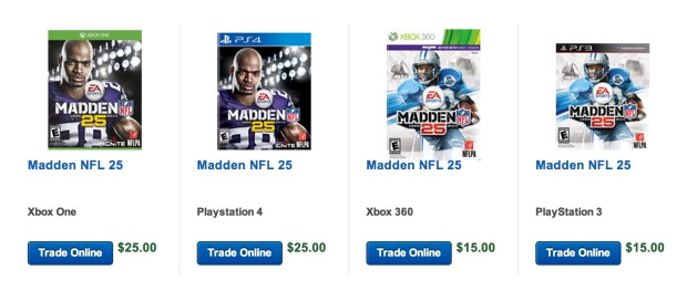 The Madden 25 trade in value is already high at Best Buy.