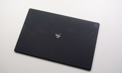 Sony delivers a thin and light design on this water-proof tablet.