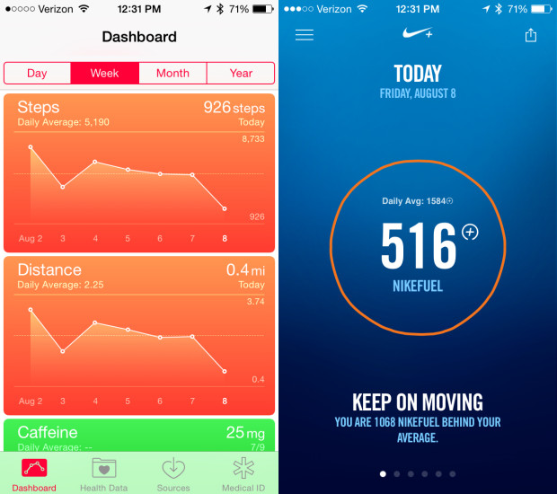 iOS 8 vs iOS 7 Walkthrough - Health