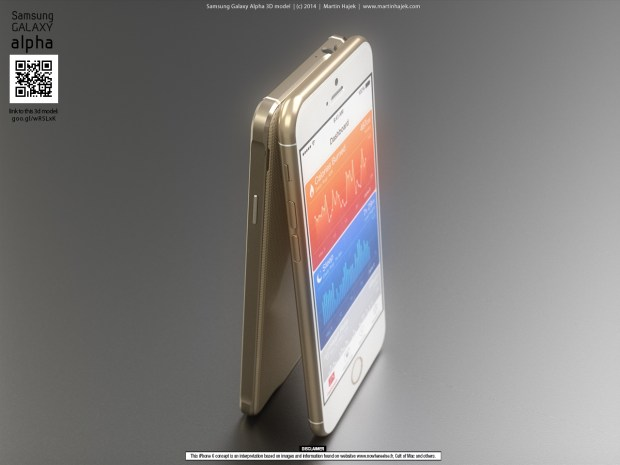 iPhone 6 concept with iOS 8 based on iPhone 6 rumors.