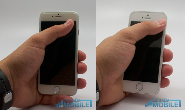 Simulated usage shows this iPhone 6 design is small enough and easy enough to hold for one-hand use.