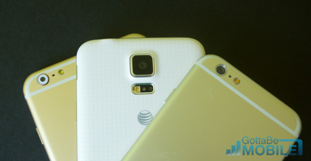 The Galaxy S5 is already available for as little as $99 on contract. We expect an iPhone 6 release date in September and prices at $199 and $299 on contract are likely.