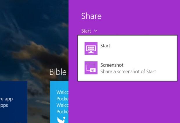 windows 8.1 share menu