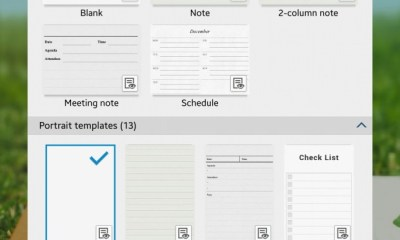 S Note Templates