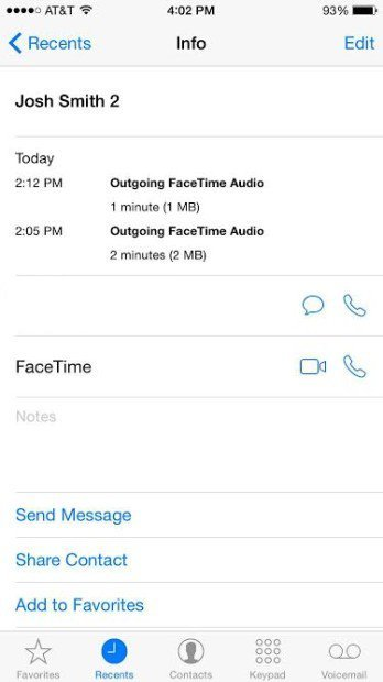 FaceTime-Audio-iPhone 6 iOS 8