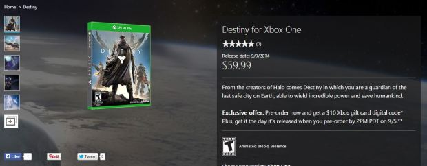 Microsoft Destiny Deal