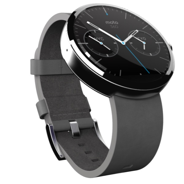 The Moto 360 design includes options for users.