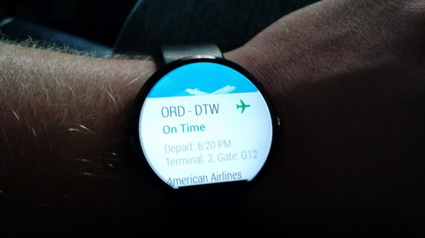 One example of Moto 360 notification.