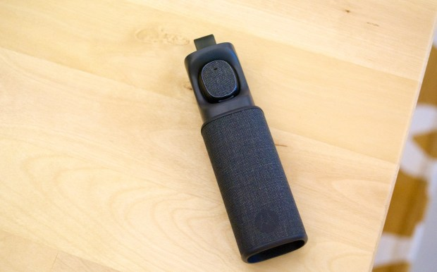 The Moto Hint carrying case also charges the headset.