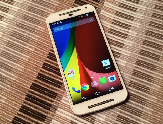A larger 5-inch display with a 720p resolution addresses a complaint about the original Moto G.