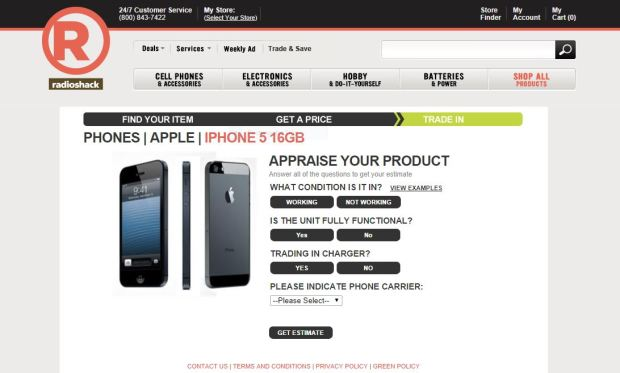 Radio Shack iPhone 6 Trade In