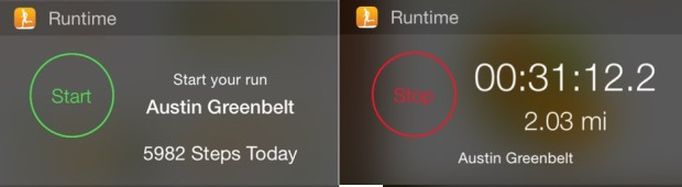 Get running with this iOS 8 widget.