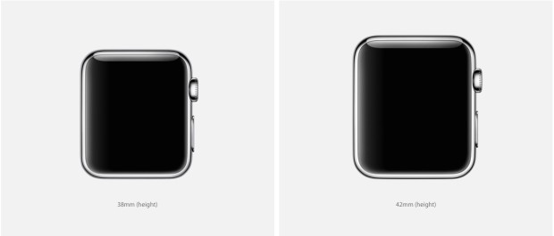 Apple Watch two sizes