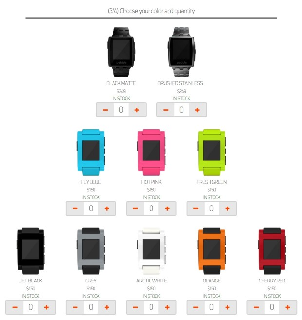 pebble smartwatch and pebble steel options