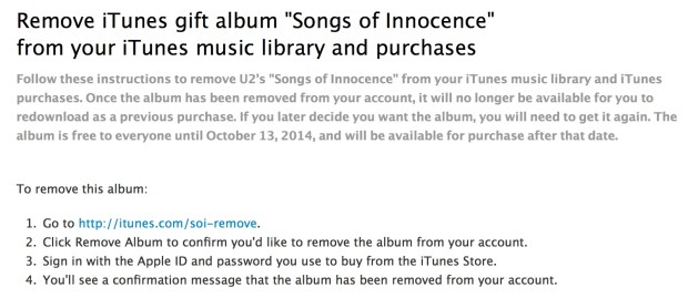 how to delete u2 off itunes