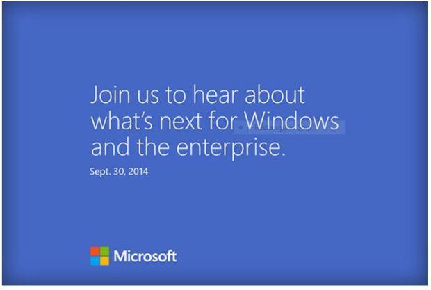 Windows 9 invite