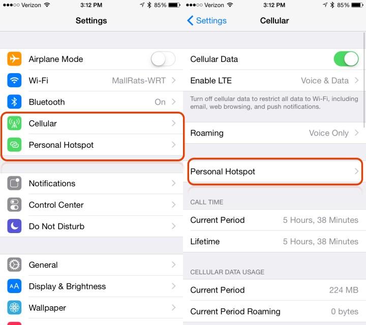 Turn on the iOS 9 Hotspot.