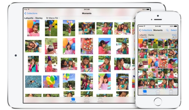 In iOS 8 you can access all of your photos easier.