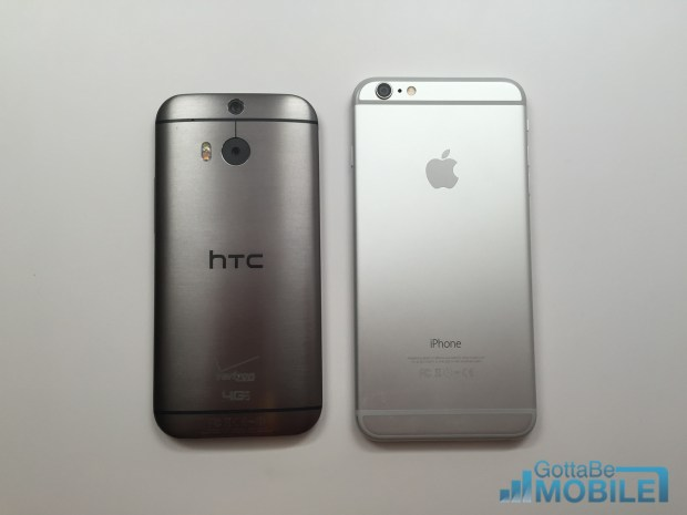 Both phones use larger than average bezels on the top and bottom so there isn't a big difference in size.