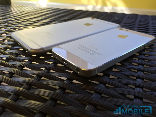 The iPhone 6 Plus includes more features than the iPhone 5s, even with iOS 8.