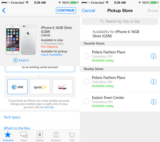 It's pretty easy to find an iPhone 6 in stock.